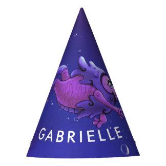SWIMMER 1 CUTE ALIEN MONSTER CARTOON Party Hat