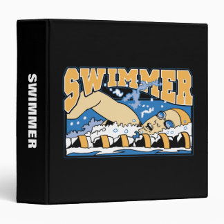 Swimmer 3 Ring Binder