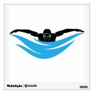 Swimmer Butterfly Stroke Wall Sticker
