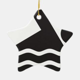 Swimmer Ceramic Star Ornament