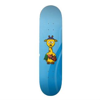 Swimmer Giraffe Cute Cartoon Custom Skate Board