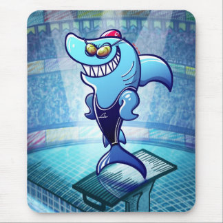 Swimmer Shark Mouse Pad