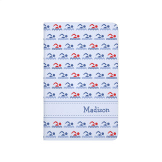 Swimmers pattern name initials sports journal