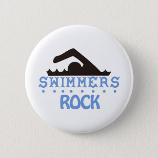 Swimmers Rock 2 Inch Round Button
