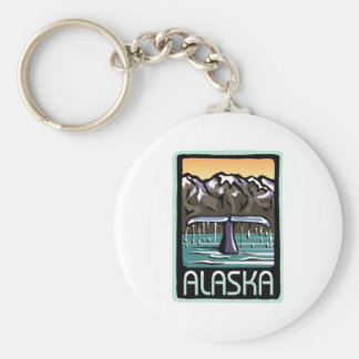 Swimmin' in Alaska Basic Round Button Keychain
