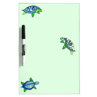 Swimmin Sea Turtle Dry Eraser Board
