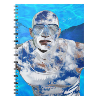 Swimming angel spiral notebook