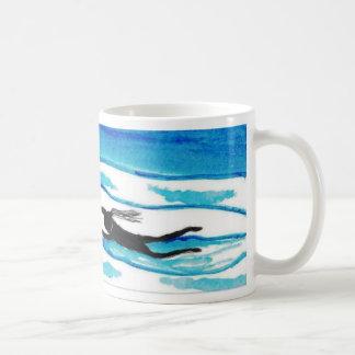 Swimming around the mug.Water & Sky Coffee Mug