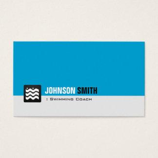 Swimming Coach Swimmer - Personal Aqua Blue Business Card