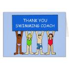 Swimming Coach Thanks Card