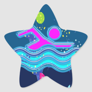 SWIMMING:  Cool Minds in Hot Times Star Sticker