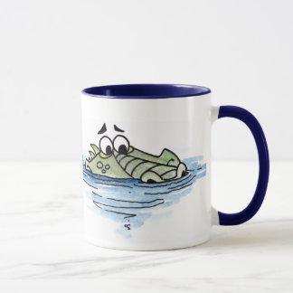 Swimming Crocodile Mug