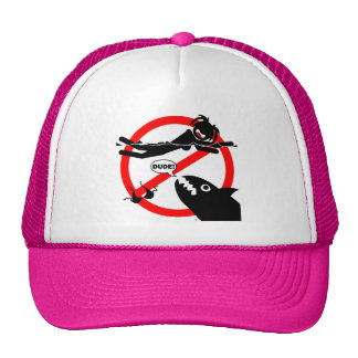 Swimming Danger Shirts and Apparel.. Trucker Hat
