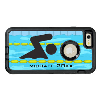 Swimming Design Otter Box OtterBox Defender iPhone Case