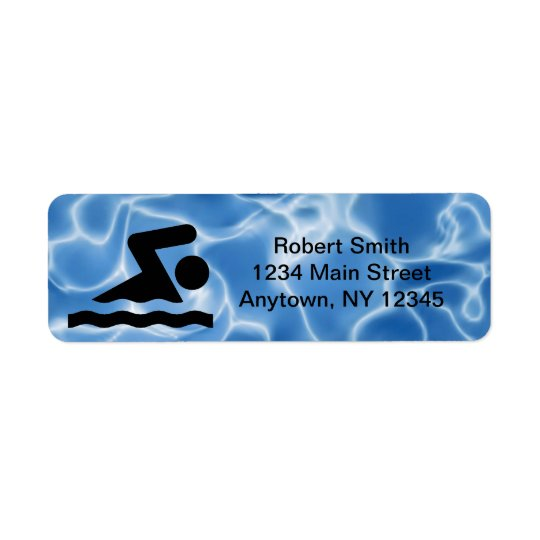 Swimming Design Return Address Labels