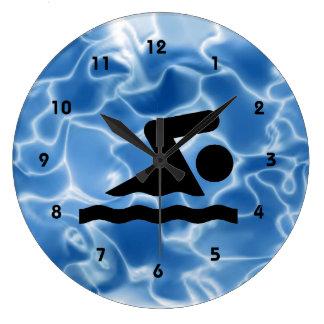 Swimming Design Wall Clock