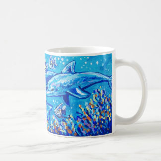 SWIMMING DOLPHINS COFFEE MUG