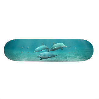 Swimming Dolphins Skateboard Deck