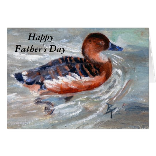 Swimming Duck Father's Day Card