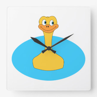 Swimming Duck. Wallclock