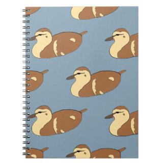 Swimming Ducks Spiral Notebook