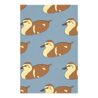 Swimming Ducks Stationery