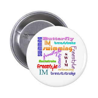 Swimming Everywhere Pinback Button