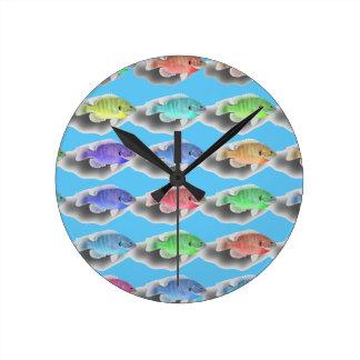 Swimming Fishies Wall Clocks