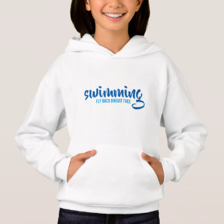 Swimming Fly Back Breast Free Typographic Text