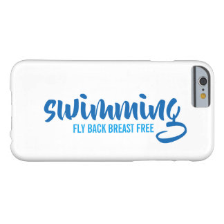 Swimming Fly Back Breast Free Typographic Text Barely There iPhone 6 Case