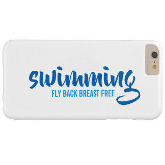 Swimming Fly Back Breast Free Typographic Text Barely There iPhone 6 Plus Case