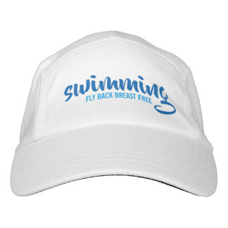 Swimming Fly Back Breast Free Typographic Text Hat