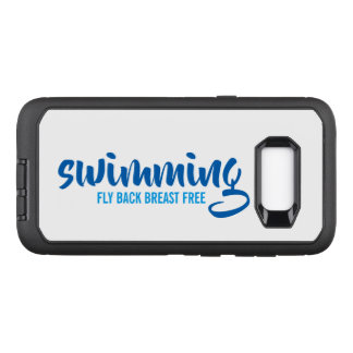 Swimming Fly Back Breast Free Typographic Text OtterBox Defender Samsung Galaxy S8+ Case