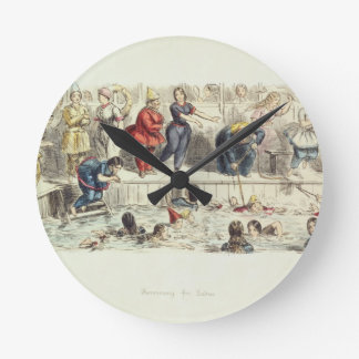 Swimming for Ladies, 1844 (litho) Wall Clocks