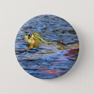 swimming frog 2 inch round button