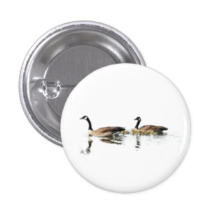 Swimming Geese 1 Inch Round Button