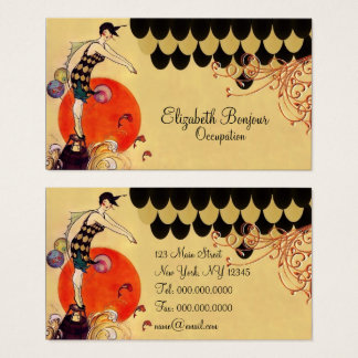 Swimming Girl - Business Card