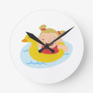 Swimming Girl Clock