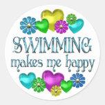 Swimming Happiness Sticker