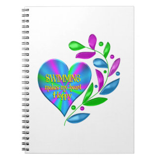 Swimming Happy Heart Note Book