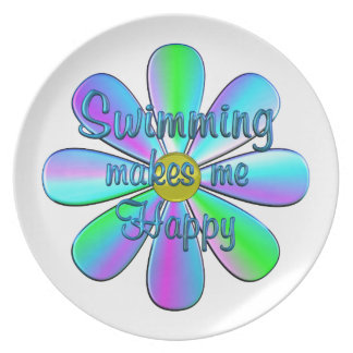 Swimming Happy Party Plates