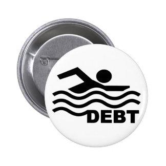 Swimming in Debt 2 Inch Round Button