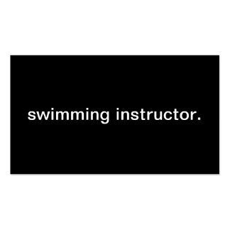 Swimming Instructor. Pack Of Standard Business Cards