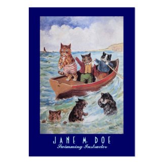 Swimming Instructor / Canoe Rentals - Two Sided Large Business Card