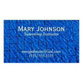 Swimming Instructor Swim Coach Swimming Teacher Business Card