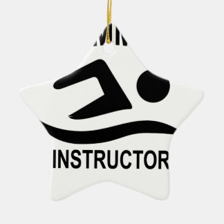 Swimming Instructor T Shirt.png Ceramic Ornament