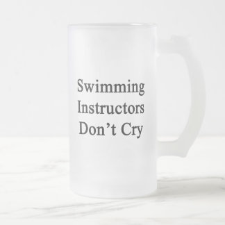 Swimming Instructors Don't Cry Coffee Mugs