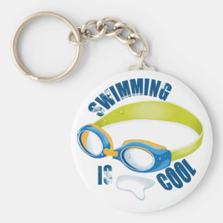 SWIMMING IS COOL KEYCHAINS