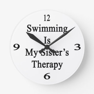 Swimming Is My Sister s Therapy Wall Clocks