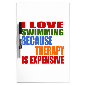 Swimming Is My Therapy Dry-Erase Whiteboards